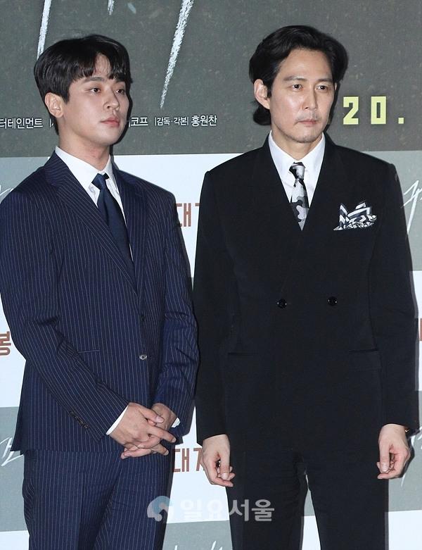 영화 다만 악에서 구하소서 언론시사회에 참석한 박정민-이정재