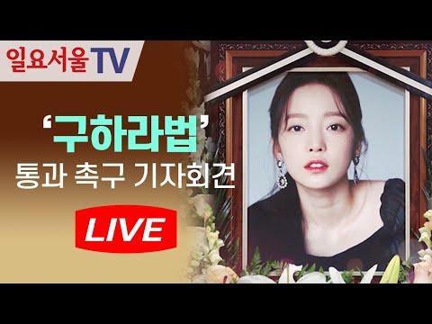 [LIVE] 0811 '구하라법' 통과 촉구 기자회견