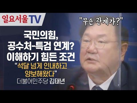 [영상] 국민의힘, 공수처-특검 연계? 이해하기 힘든 조건, 김태년