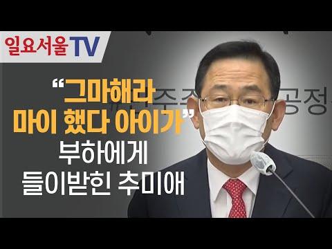 [영상] 부하에게 들이받힌 추미애, 주호영
