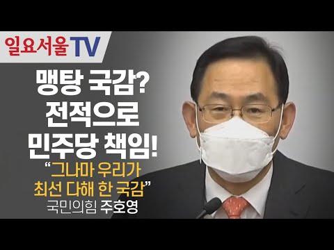 [영상] 맹탕 국감? 전적으로 민주당 책임! 주호영
