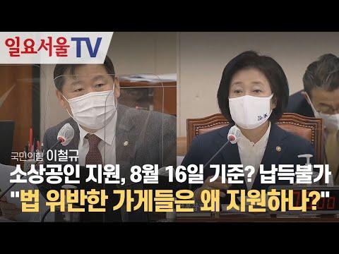[영상] 소상공인 지원, 8월 16일 기준? 납득불가, 이철규