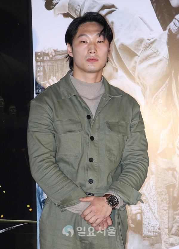 영화 불어라 검풍아 언론시사회에 참석한 박태산