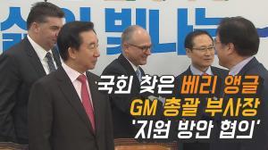 [영상] 국회 찾은 베리 앵글 GM 총괄 부사장 '지원 방안 협의'