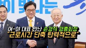 [영상] 여-야 대표 만난 손경식 경총회장