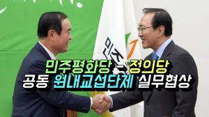 [영상] 민주평화당-정의당, 공동 원내교섭단체 구성 실무협상