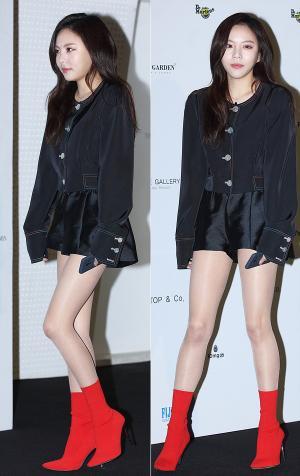 [IS포토|서울패션위크] 이열음, 블링블링 '극세사 각선미'